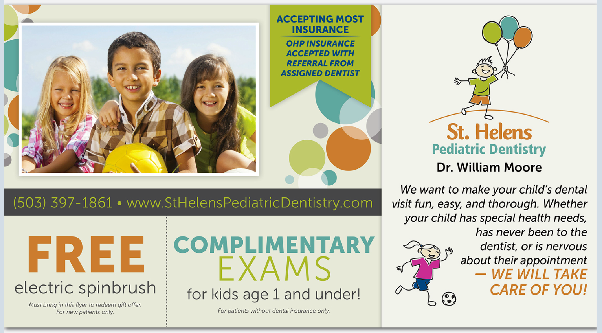 Welcome to St Helens Pediatric Dentistry - here are two amazing offers for you to use!